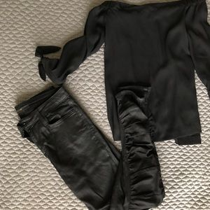 JOES Waxed Skinny Jeans
